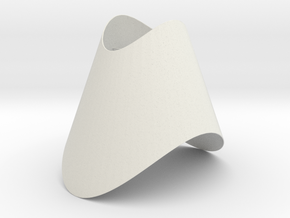 Pendant-Cone-OvalCut-Twisted in White Natural Versatile Plastic