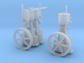 Two Vertical Steam Engines in Smooth Fine Detail Plastic