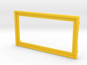 Stern Steel Apron Rule Card Surround in Yellow Strong & Flexible Polished