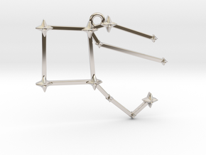 The Constellation Collection - Pegasus in Rhodium Plated Brass