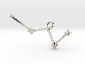 The Constellation Collection - Cassiopeia in Rhodium Plated Brass