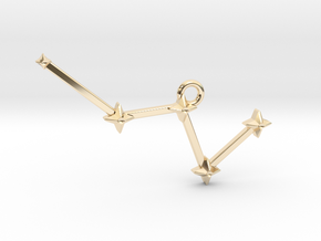 The Constellation Collection - Cassiopeia in 14k Gold Plated Brass