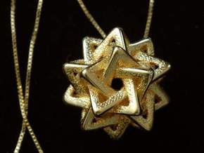 Five Tetra, pendant in Polished Bronzed Silver Steel
