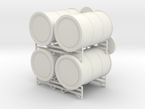 Drum Stack Deck Accessory in White Natural Versatile Plastic: 1:18