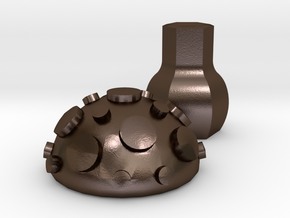 Toadstool in Polished Bronze Steel
