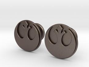 Rebel Alliance Cufflinks in Polished Bronzed Silver Steel