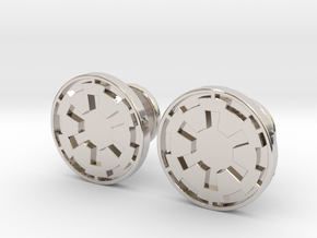 Imperial Cufflinks in Rhodium Plated Brass