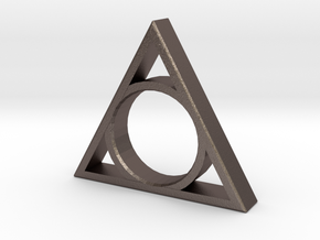 Prime Ring - Triangle in Polished Bronzed Silver Steel