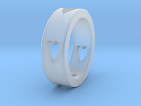 LOVE RING Size-11 in Smooth Fine Detail Plastic