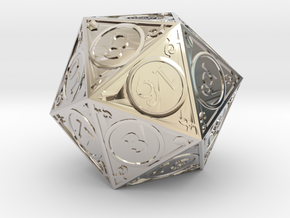 D20 Dakin in Rhodium Plated Brass