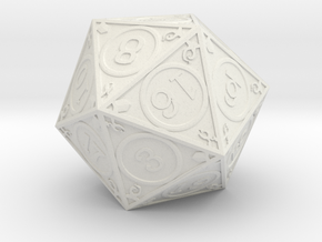 D20 Dakin in White Strong & Flexible