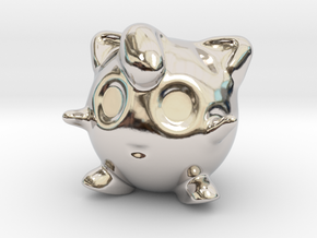 Jigglypuff in Rhodium Plated Brass