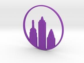 New York Pendant in Purple Processed Versatile Plastic