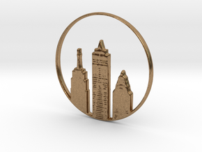 New York Pendant in Natural Brass