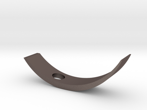 Curved Wine Holder in Polished Bronzed Silver Steel