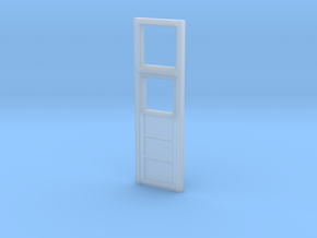 MOF Red Barn Office Door - 72:1 Scale in Smooth Fine Detail Plastic
