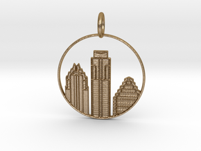 Austin Pendant With Loop in Polished Gold Steel
