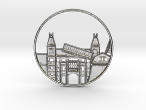 Amsterdam Pendant in Natural Silver