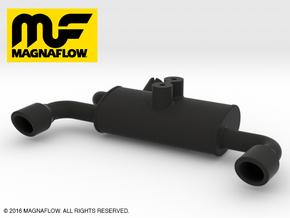 MF10001 Twin Exhaust NYLON in Black Strong & Flexible