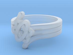 Quantum Wave Ring 2 in Smooth Fine Detail Plastic