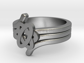 Quantum Wave Ring 2 in Natural Silver