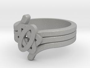 Quantum Wave Ring 2 in Aluminum