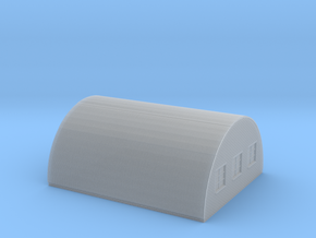 Nissen Hut 24ft Span 5 Bay N Gauge Brick Ends in Smooth Fine Detail Plastic