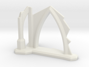Gothic Arch and Flying Buttress Ruin 6mm Scale in White Strong & Flexible
