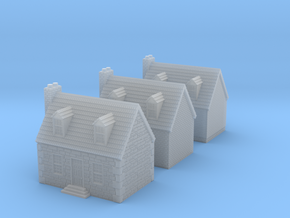 10mm Colonial Houses For Rusty in Smooth Fine Detail Plastic
