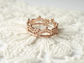 Lace Wrap Ring - Size 6.5 in 14k Rose Gold Plated Brass