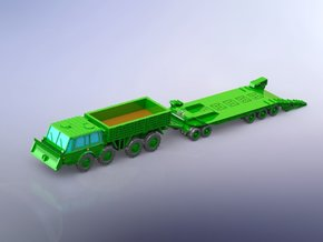 Czech Tatra 813 & P-50 Tank Trailer 1/220 Z-Scale in Smooth Fine Detail Plastic