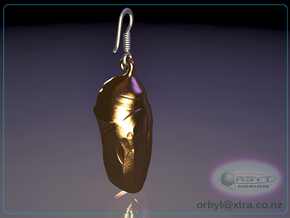 Monarch Butterfly Chrysalis~Danaus plexippus 25mm in Polished Bronze Steel