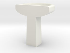 Basin 1:64 Scale in White Natural Versatile Plastic