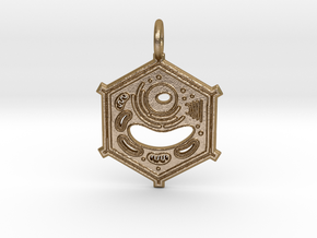 Plant Cell Pendant in Polished Gold Steel