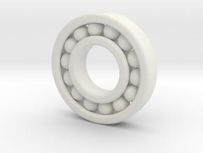 Ball Bearing 50 Mm Diameter in White Natural Versatile Plastic