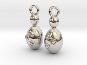 Saccharomyces Yeast Earrings - Science Jewelry in Rhodium Plated Brass
