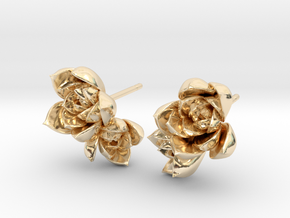 Succulent No. 2 Post Studs in 14k Gold Plated Brass