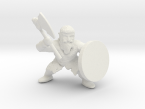 Dwarf Axeman 1 in White Natural Versatile Plastic