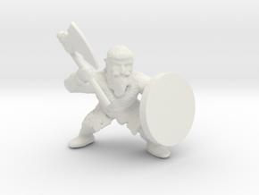 Dwarf Axeman 1 in White Natural Versatile Plastic
