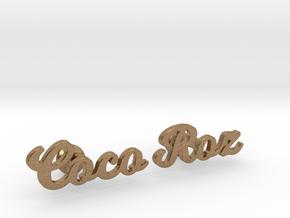 "Custom Name Cufflinks - ""Coco & Roz"" in Natural Brass"