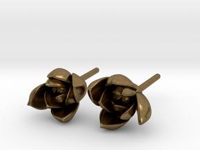 Succulent No. 1 Stud Earrings in Natural Bronze