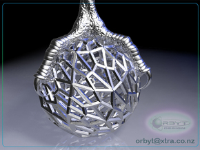 Raptor Claws - Orb & Eagle's Foot pendant ~ 46mm in Polished Silver