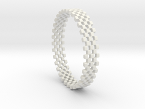 Continum Ring (Size-9) in White Natural Versatile Plastic: 9 / 59