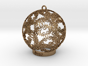 Aves Ornament for lighting in Natural Brass