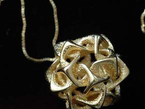 Icosahedron I, pendant in Polished Gold Steel