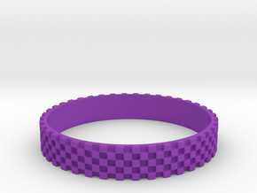 Perfect Square Ring (Size-12) in Purple Processed Versatile Plastic