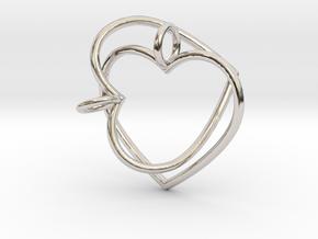 Two Hearts Interlocking in Platinum