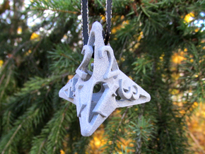 Pinwheel d4 Ornament in Gray PA12