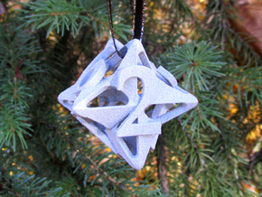Pinwheel Die6 Ornament in White Natural Versatile Plastic