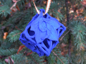 Botanical Die6 Ornament in Blue Processed Versatile Plastic